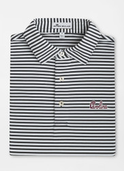 Peter Millar University of South Carolina Script Touchdown Stripe Mesh Polo - Black