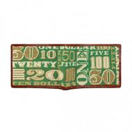 Smathers and Branson Cash Money Bifold Wallet - Sage