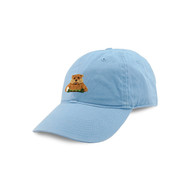 Smathers and Branson Gopher Needlepoint Hat - Light Blue