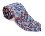 R Hanauer Lomax Paisley Necktie - Henna