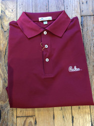 Peter Millar University of South Carolina Garnet Script Solid Performance Polo - Maroon