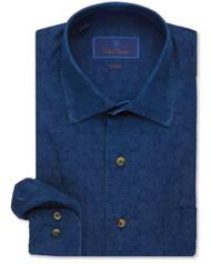 David Donahue Indigo Paisley Sport Shirt - Navy