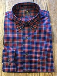 Craig Reagin Small Plaid Sport Shirt - Red