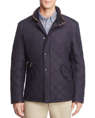 Barbour Mens Powell Quilted Jacket - Navy