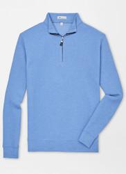 Peter Millar Tri-Blend Mélange Fleece Quarter-Zip - Marina Blue