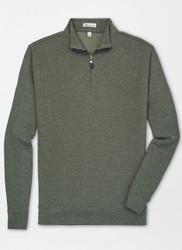 Peter Millar Tri-Blend Mélange Fleece Quarter-Zip - Olive