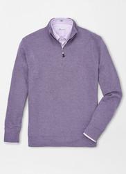 Peter Millar Tri-Blend Mélange Fleece Quarter-Zip - Pomerol