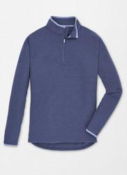 Peter Millar All Day Lightweight Micro Fleece Quarter-Zip - Navy