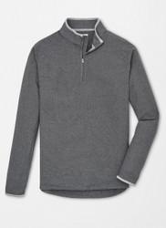 Peter Millar All Day Lightweight Micro Fleece Quarter-Zip - Smoke