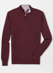 Peter Millar Crown Comfort Cashmere Quarter-Zip - Autumn Foliage