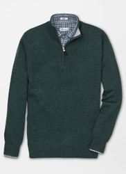 Peter Millar Crown Comfort Cashmere Quarter-Zip - Woodland