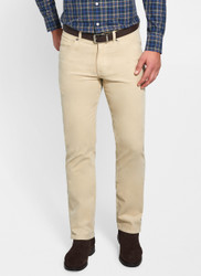 Peter Millar Superior Soft Corduroy Five-Pocket Pant - Light Sand
