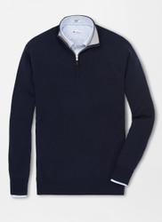 Peter Millar Cashmere 1/4 Zip Sweater - Navy