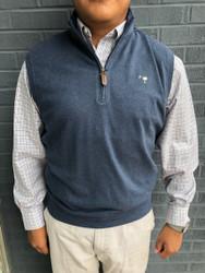 Craig Reagin Heathered 1/4 Zip Vest - Navy