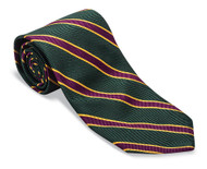 R Hanauer Handmade Heckle Stripes Necktie - Green