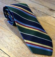R Hanauer Handmade Bromley Stripes Necktie - Green