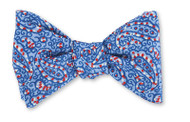 R Hanauer Jefferson Paisley Bowtie - Blue
