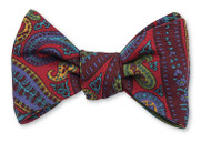 R Hanauer Elgin Paisley Bowtie - Red
