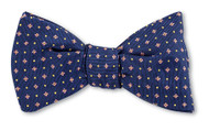 R Hanauer Barberville Micro Bow Tie - Navy