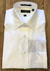 Craig Reagin Solid Pinpoint Dress Shirt - White