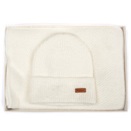 Barbour Women's Supersoft Wrap and Pom Beanie Set - Cloud