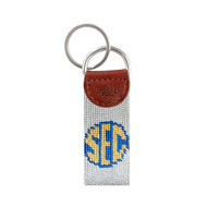 Smathers and Branson SEC Needlepoint Key Fob - Light Khaki