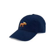 Smathers and Branson Golf Moose Needlepoint Hat - Navy