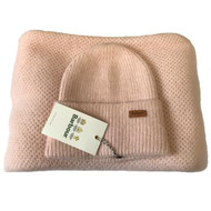 Barbour Women's Supersoft Wrap and Pom Beanie Set - Pink