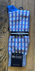 Byford Sock - Grey/Blue Plaid