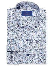 David Donahue Floral Sport Shirt- Blue