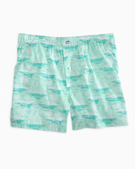 Southern Tide Waterline Boxer - Offshore Green