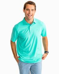 Southern Tide Driver Heathered Preformance Polo Shirt- Tropical Palm