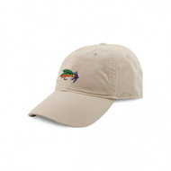 Smathers and Branson Fishing Fly Needlepoint Hat - Stone