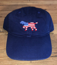 Smathers and Branson Patriotic Pointer Dog Needlepoint Hat - Navy