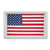 Smathers and Branson Big American Flag Valet Tray - White Wood