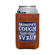 Smathers and Branson Can Cooler -  Granpa's Cough Syrup - Classic Navy