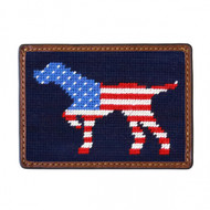 Smathers and Branson Card Wallet - Patriotic Dog On Point