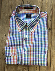 Craig Reagin Sport Shirt - Colorful Multi Check