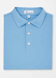 Peter Millar Solid Stretch Mesh Polo - Cottage Blue