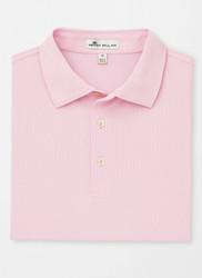 Peter Millar Solid Stretch Piqué Mesh Polo - Palmer Pink