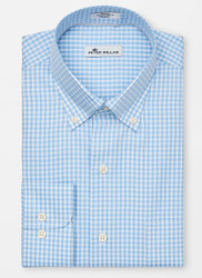 Peter Millar Crown Soft Gingham Sport Shirt - Cottage Blue