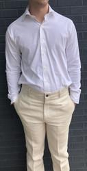 Charleston Khakis Herringbone Linen - Bone