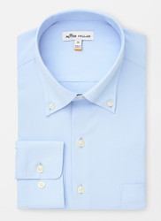 Peter Millar Rivers Performance Natural Touch Sport Shirt - Cottage Blue