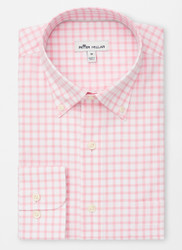 Peter Millar Crown Ease Stretch Stuart Grand Tattersall Sport Shirt - Palmer Pink
