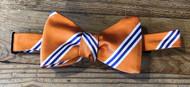 R. Hanauer Powell Stripes Bow Tie - Orange/Purple