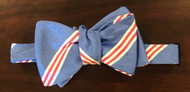R. Hanauer Powell Stripes Bow Tie - Blue/Pink