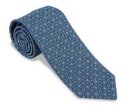 R. Hanauer Lassiter Neats Necktie - Blue/Green