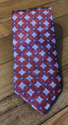 R. Hanauer Abbott Medallion Necktie - Red