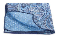 R. Hanauer Blue Hilton Paisley Pocket Square