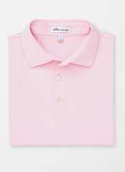 Peter Millar Solid Stretch Jersey Polo - Palmer Pink
